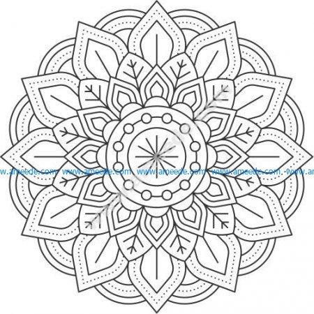 Marigold flower pattern
