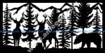 Two Bucks Bear Mountains Plasma Metal Art DXF