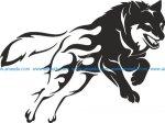 Wolf Stencil