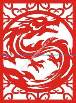 dragon shaped window pattern