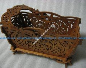 hand bag made of wood