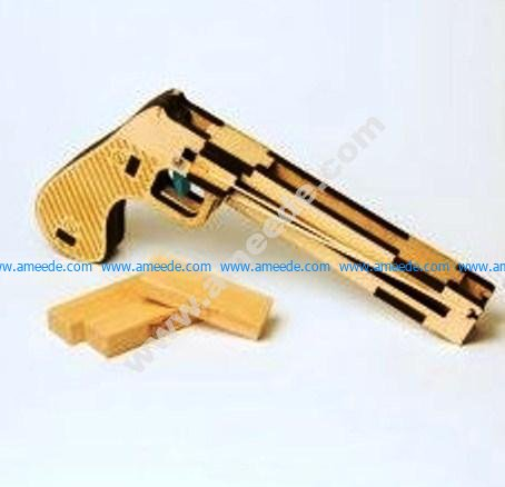 pistol made of wood