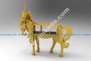 the horse-shaped table