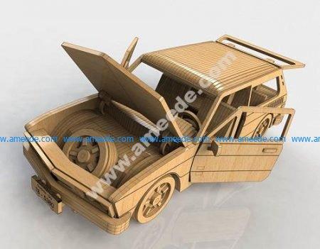 Stunning model car assembly