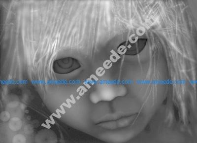 Big Eyes Grayscale Image BMP