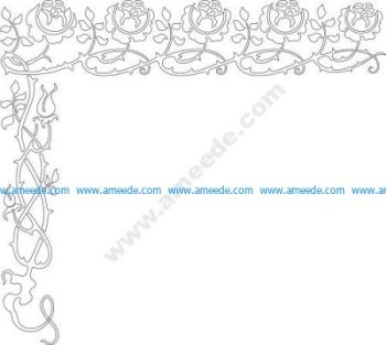 Brier stencil border vector