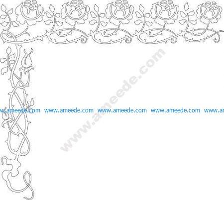 Brier stencil border vector
