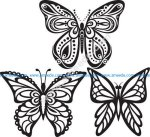 Butterflies Tattoo Vector