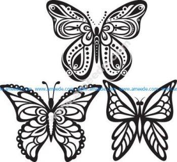 Butterflies Tattoo Vector