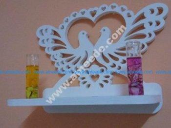 Decorative Bird Heart Shelf