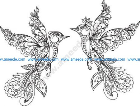 Ornament Birds Vector