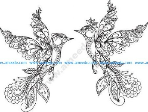 Ornament Birds Vector
