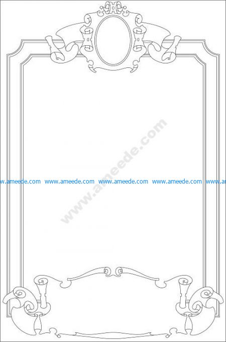 Page border with scrolls