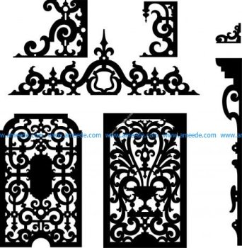 Scroll saw and fretwork vector patterns