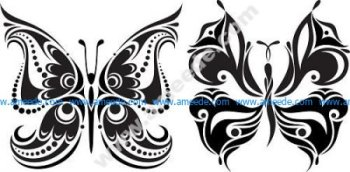 Tattoo Butterflies Free Vector