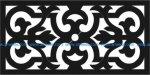 Horizontal scroll saw pattern