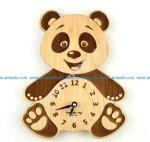 bear-shaped wall clock