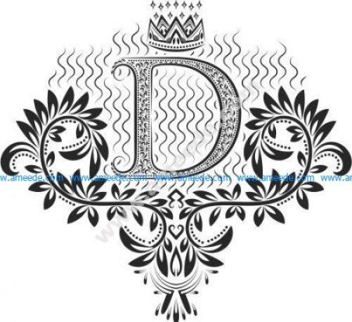 Beautiful Ornament Letters D