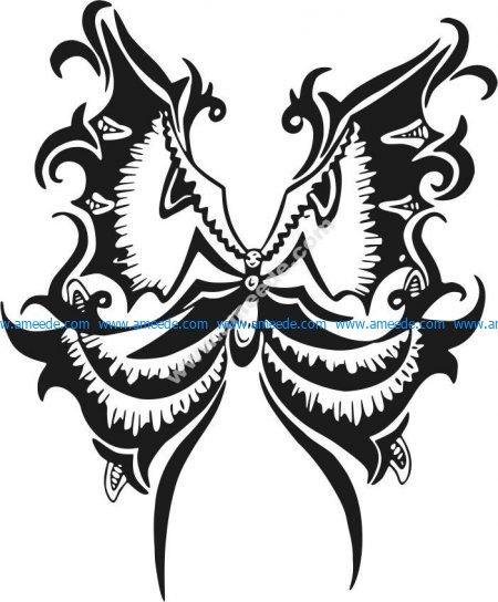 Butterfly-shaped pattern