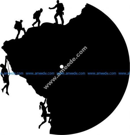 Clocks of mountaineering athletes