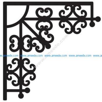Corner design Vector corel file 12