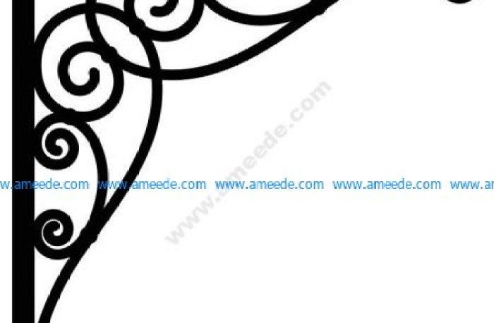 Corner design Vector corel file 13