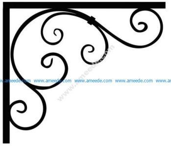 Corner design Vector corel file 14