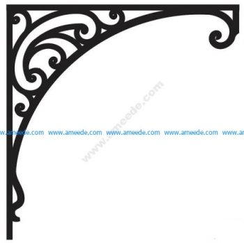 Corner design Vector corel file 7