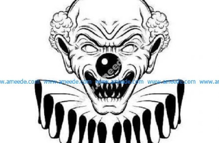 Creepy scary evil clown