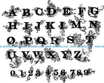Decorative English Letters Design