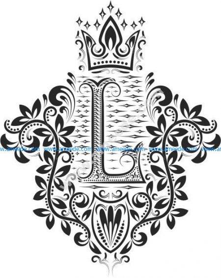 Decorative Letter Set L