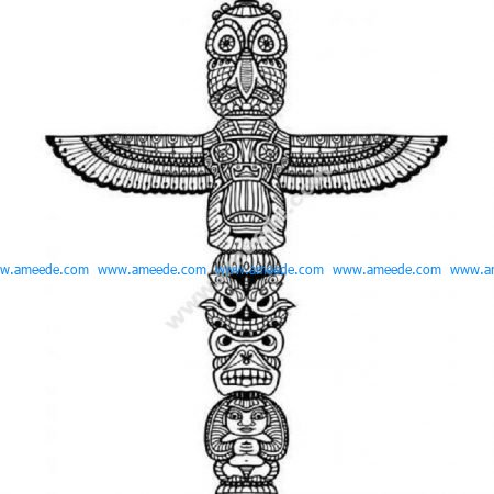 Detailed totem pole
