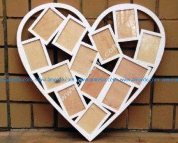 February 13 Frames Heart Shape for Laser Cutting