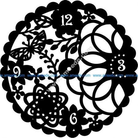 Flower clock leaves