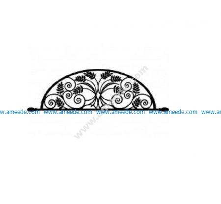 Ironwork Arch Flower Design