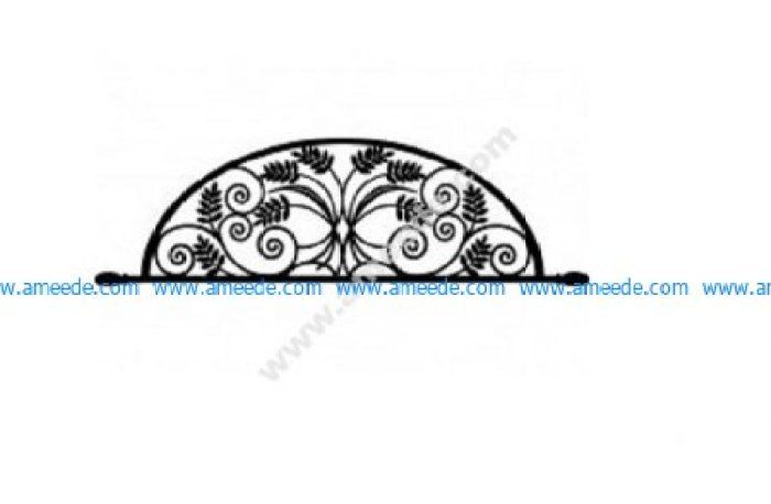 Ironwork Arch Flower Design