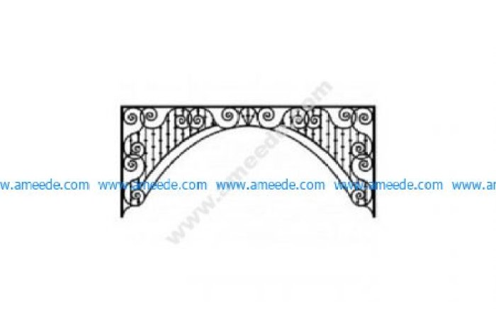 Ironwork Arch dxf File