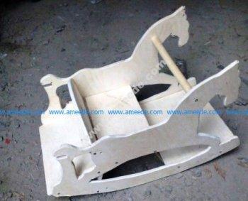 Laser Cut Rocking Horse Plywood 10mm