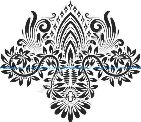 Lion bow pattern