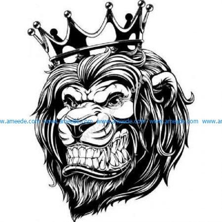 Lion wearing a crown