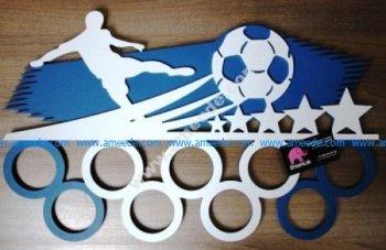 Medalnitsa Futbolist – Medals hanger Laser Cut