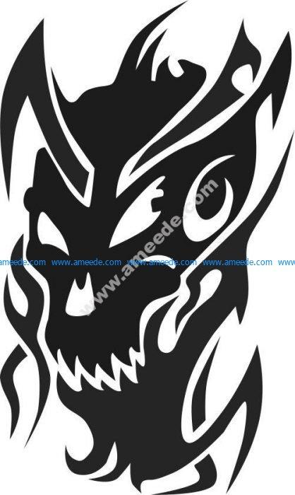 Monster head pattern