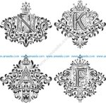 Ornamental Decor Floral Letter Set