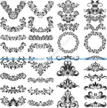 Ornate Decorative Design Elements Free