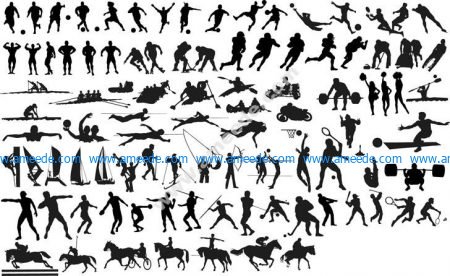 Silhouettes of Sportsmen