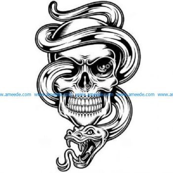 Snake through skull