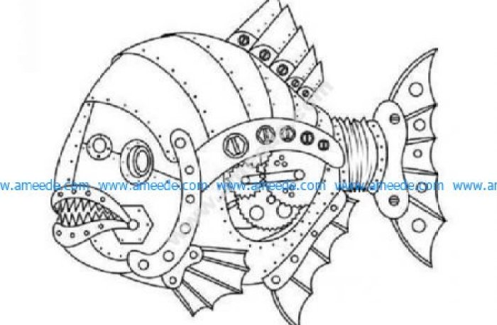 Steampunk fish