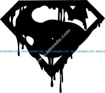 Superman logo clock