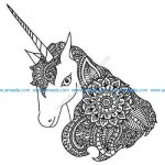 Unicorn zen tangle