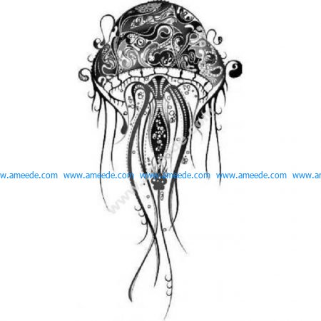 Zen detailed jellyfish